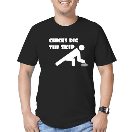 Chicks Dig the Skip Men's Fitted T-Shirt (dark)
