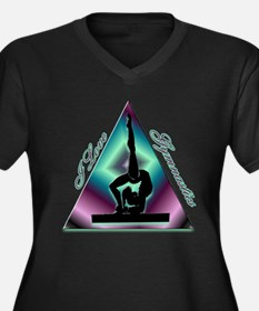I Love Gymnastics Triangle #2 Women's Plus Size V-