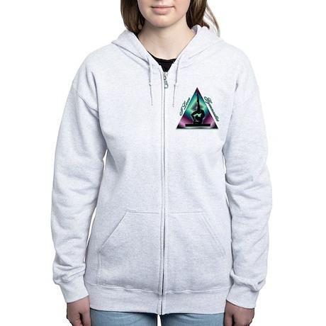 I Love Gymnastics Triangle #2 Women's Zip Hoodie