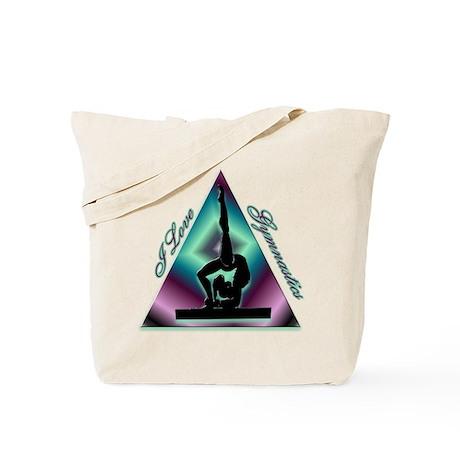 I Love Gymnastics Triangle #2 Tote Bag