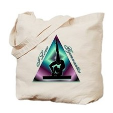 I Love Gymnastics Triangle #2 Tote Bag