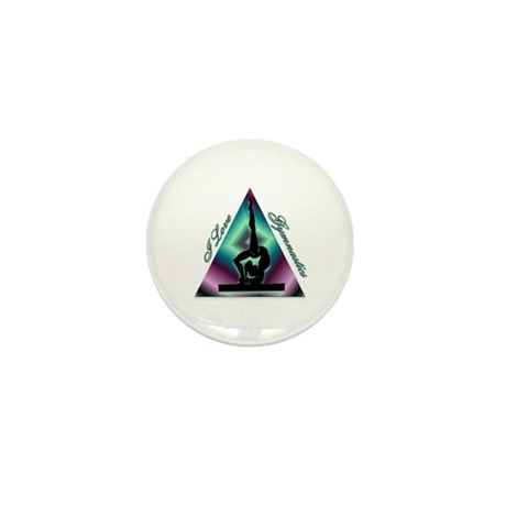 I Love Gymnastics Triangle #2 Mini Button (10 pack