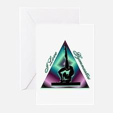 I Love Gymnastics Triangle #2 Greeting Cards (Pk o