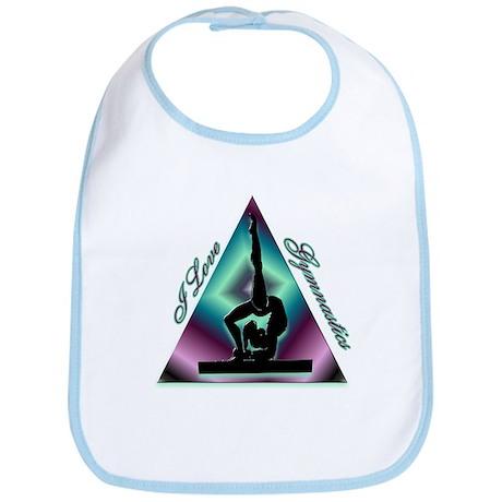 I Love Gymnastics Triangle #2 Bib