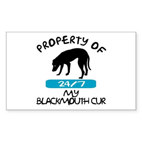 Blackmouth Cur Rectangle Sticker