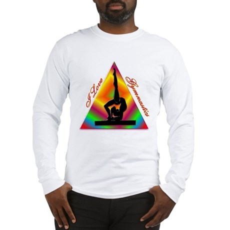 I Love Gymnastics Triangle #4 Long Sleeve T-Shirt