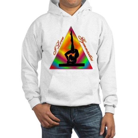 I Love Gymnastics Triangle #4 Hooded Sweatshirt