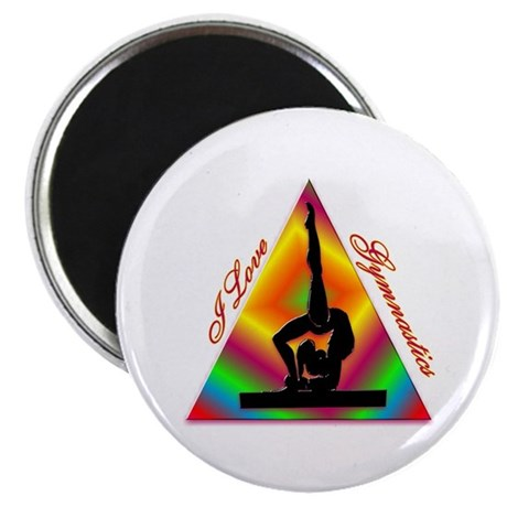 I Love Gymnastics Triangle #4 Magnet