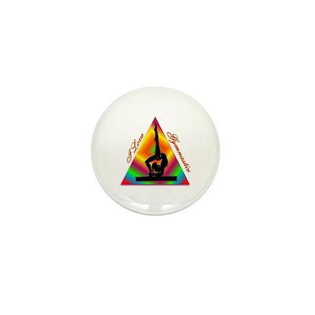 I Love Gymnastics Triangle #4 Mini Button (10 pack