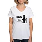Curling: Hair Women's V-Neck T-Shirt