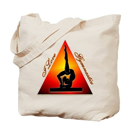 I Love Gymnastics Triangle #7 Tote Bag