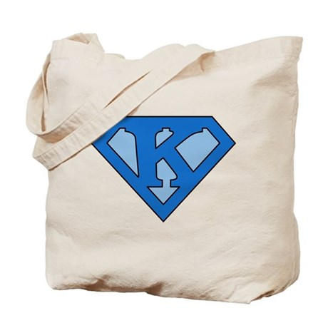 Super Blue K Tote Bag