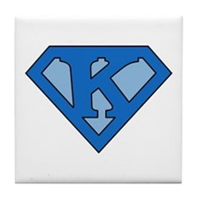 Super Blue K Tile Coaster