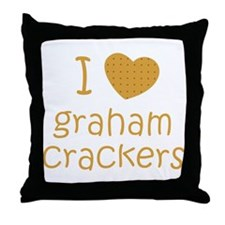 I love graham crackers Throw Pillow