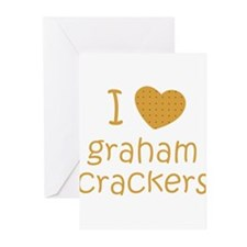 I love graham crackers Greeting Cards (Pk of 10)