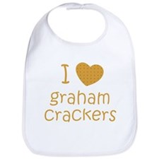 I love graham crackers Bib