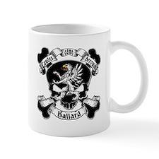 Ballard Family Crest Skull Mug