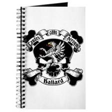 Ballard Family Crest Skull Journal