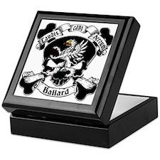 Ballard Family Crest Skull Keepsake Box
