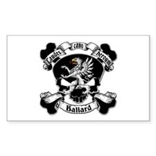 Ballard Family Crest Skull Decal