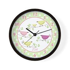 Zoe Penelope Bird Wall Clock