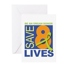 Save 8 Lives Greeting Cards (Pk of 10)