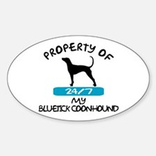 Bluetick Coonhound Oval Decal