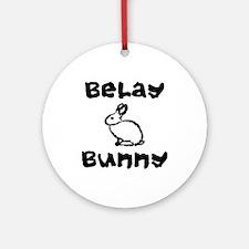 Belay Bunny Ornament (Round)