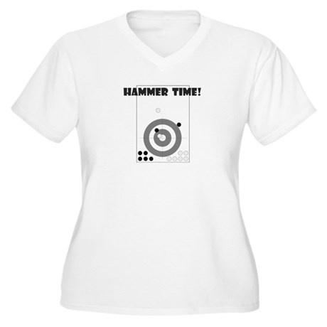Hammer Time! Women's Plus Size V-Neck T-Shirt