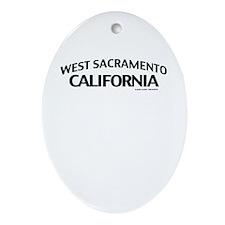 West Sacramento Ornament (Oval)