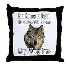 His name is Jacob Throw Pillow