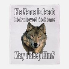 His name is Jacob Throw Blanket