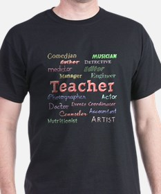 Teachers Wear Many Hats Teach T-Shirt