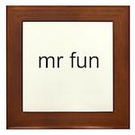 Mr. Fun Framed Tile