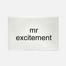 Mr. Excitement Rectangle Magnet