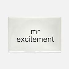 Mr. Excitement Rectangle Magnet