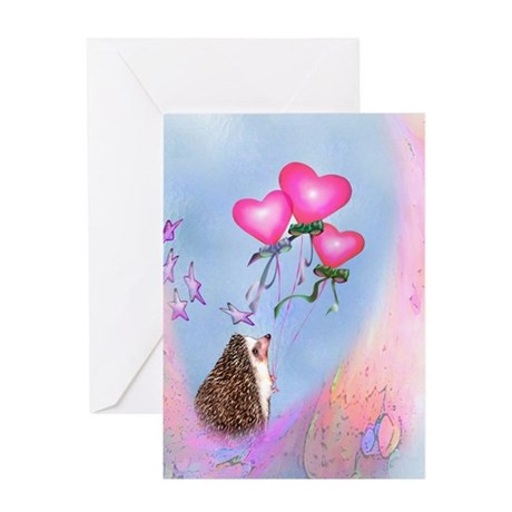 Hedgie Hearts Greeting Card