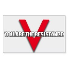 V: You Are The Resistance (Rectangle White)