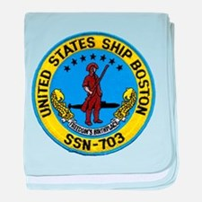 USS BOSTON baby blanket