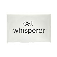 cat whisperer Rectangle Magnet