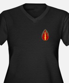 Blood and Fire Women's Plus Size V-Neck Dark T-Shi