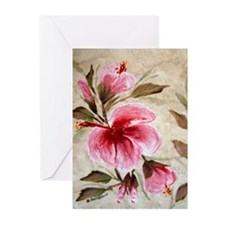 """Illusione Hibiscus"" Greeting Cards (Pk of 10)"