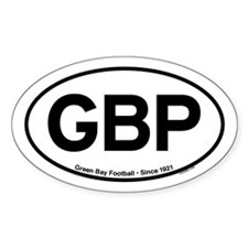 GBP Oval Sticker - White