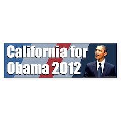 California for Obama 2012 bumper sticker