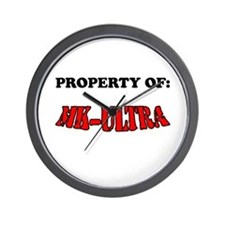 Property of MK-ULTRA Wall Clock