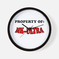 Property of MK-ULTRA Wall Clock