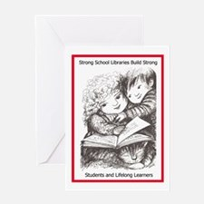 Reading Friends Greeting Card