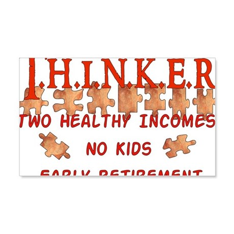 Child-Free Thinker 22x14 Wall Peel