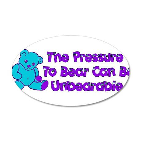 Pressure to Breed 38.5 x 24.5 Oval Wall Peel