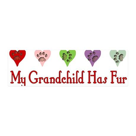 Furry Grandchild 21x7 Wall Peel